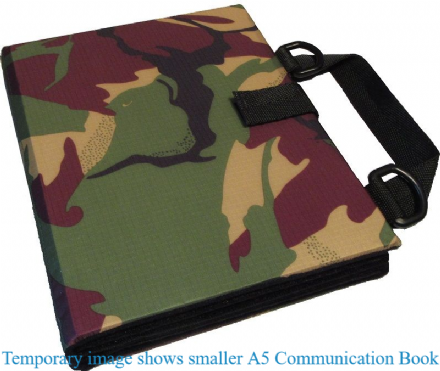 A4 Communication Book - Rigid Covers - Jungle Camouflage